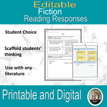 Digital Interactive Notebook for Fictional Reading Respons