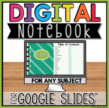 Digital Notebook in Google Slides for ANY subject