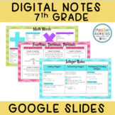Digital Notes: 7th Grade Math