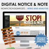 Digital Notice and Note Nonfiction Introduction and Analys