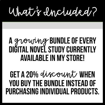 Digital Novel Studies - Growing BUNDLE - For Google Drive and Classroom