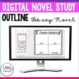 Digital Novel Study Outline for ANY Novel, Distance Learning