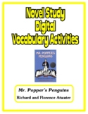 Digital Novel Study Vocabulary Activities (Google Docs) - Mr. Popper's Penguins