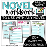 Digital Novel Workbook for Any Book | Use with Google Slid