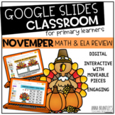 Digital November Math and ELA Review