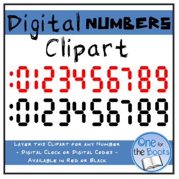 Digital Number Clipart - Digital Clock Clipart - Escape Room Clipart