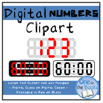 Digital Number Clipart - Digital Clock Clipart - Escape Room Clipart