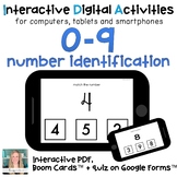 Digital ⋅ Number Matching ⋅ Interactive PDF, Boom Cards, and Quiz