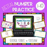 Digital Number Practice 1-10
