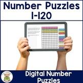 Digital Number Puzzle for use with Google Slides™
