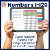 Digital Number Puzzle with Numbers to 120 for use with Goo