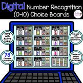Digital Number Recognition Choice Boards BUNDLE