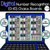 Digital Number Recognition Choice Boards BUNDLE for Google