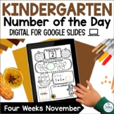Digital Number Sense Google Slides™ Number of the Day Kind