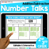 Digital Number Talks Addition and Subtraction with Regrouping Distance Learning
