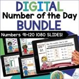 Digital Number of the Day 1080 Google Slides™ Distance Lea