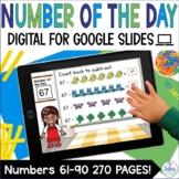 Digital Number of the Day Google Slides™ Distance Learning