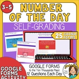 Digital Number of the Day - Self Grading Google Forms - to