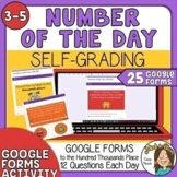 Digital Number of the Day - Self Grading Google - hundred