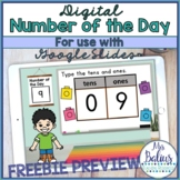 Digital Number of the Day for use with Google Slides™ Dist
