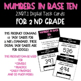 Digital Numbers and Base Ten Task Cards for 2.NBT.1