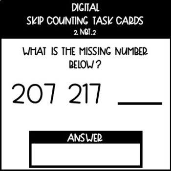 Digital Numbers and Base Ten Task Cards for 2.NBT.2