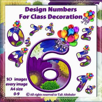 Digital Numbers decorate classroom - Balloon