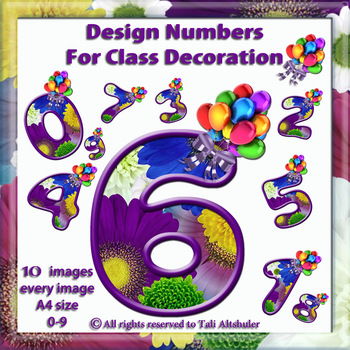 Digital Numbers decorate classroom - Balloon