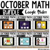 Digital October Math Centers on Google Slides