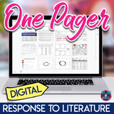 Digital One Pager for Literary Analysis