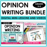 Opinion Writing Unit | Opinion Writing Mini-Lesson Videos | DISTANCE LEARNING