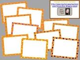 Orange Polka Dot Borders