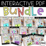 Digital Interactive PDF Games Distance Learning GROWING BUNDLE