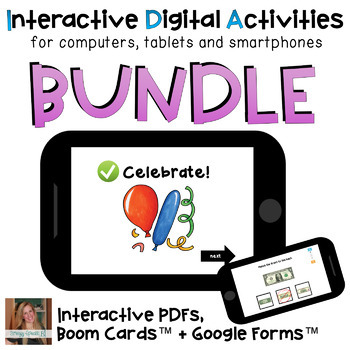 Distance Learning Digital PDFs ⋅ BUNDLE ⋅ Interactive Activities for Special Ed