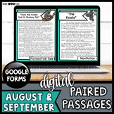 Digital Paired Reading Passages AUGUST & SEPTEMBER | Distance Learning | Google