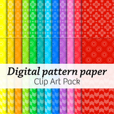 Digital Pattern Paper 02 – Commercial – Many colors!