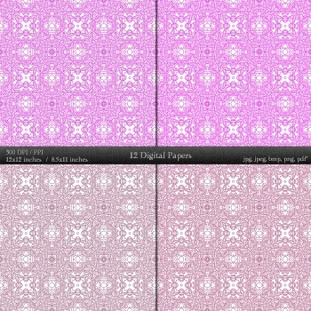 Digital Paper  12 X 12 + 8.5 X 11 Album Seamless Graphics Scrap Booking Jpg Lot