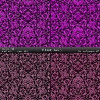 Digital Paper 12x12 + 8.5x11 Inch Card Making Scrapbook Book Page Jpg Art Fabric