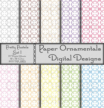 Digital Paper:  Pretty Pastels 1