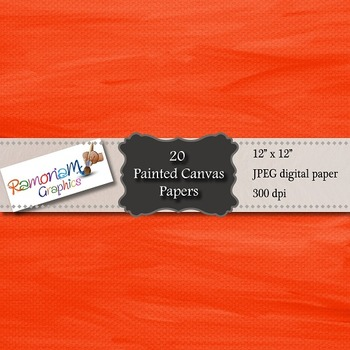 20 jpeg Digital Papers, painted canvas texture