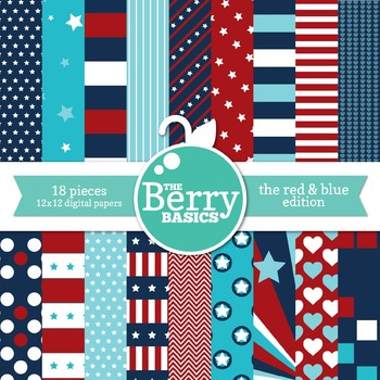 Digital Paper- The Red & Blues Edition