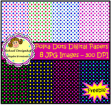 Free Digital Paper / Polka dots / Freebie (School Designhcf)