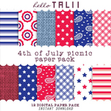 Digital Paper: 4th of July Picnic