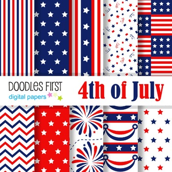 Digital Paper - 4th of July great for Classroom art projects
