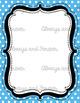 Digital Paper-8.5 x 11 Border Frame Paper Fancy Frame Polka Dots