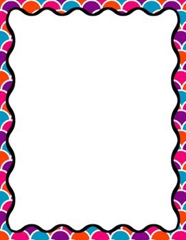 Digital Paper-8.5 x 11 Border Frame Paper Carnival