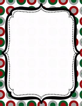 Digital Paper-8.5 x 11 Border Frame Paper Christmas Holiday