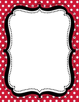 Digital Paper-8.5 x 11 Border Frame Paper Christmas Holiday 2