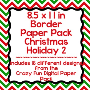 Digital Paper-8.5 x 11 Border Frame Paper Christmas Holiday 2