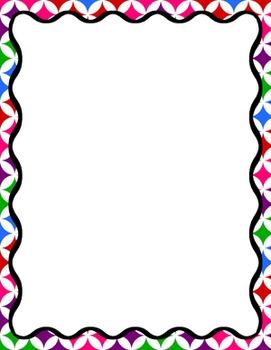 Digital Paper-8.5 x 11 Border Frame Paper Color Explosion